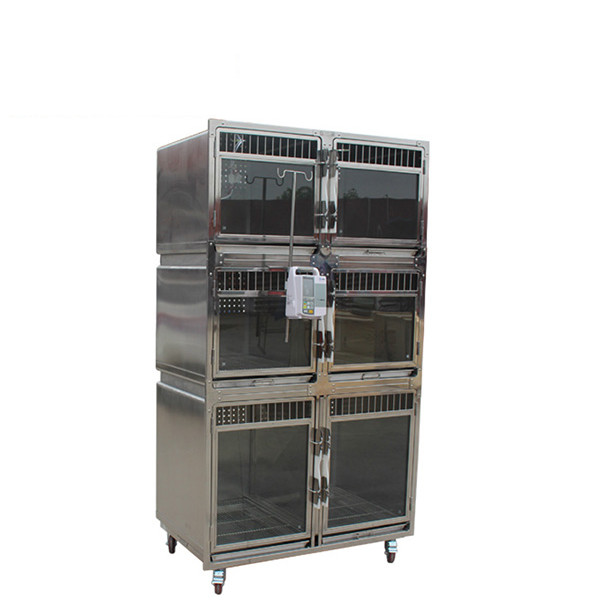Veterinary Cage ICU with Infusion Stick