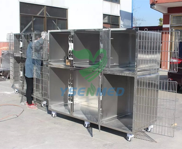 combination vet cages
