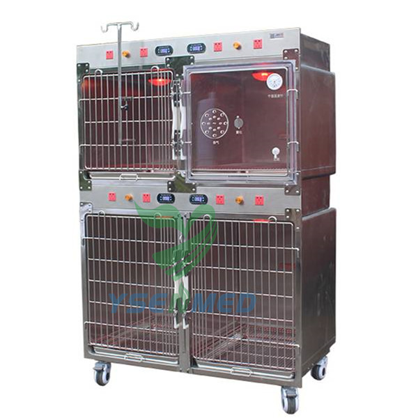 Veterinary Cage Stainless Steel with Oxygen Chamber