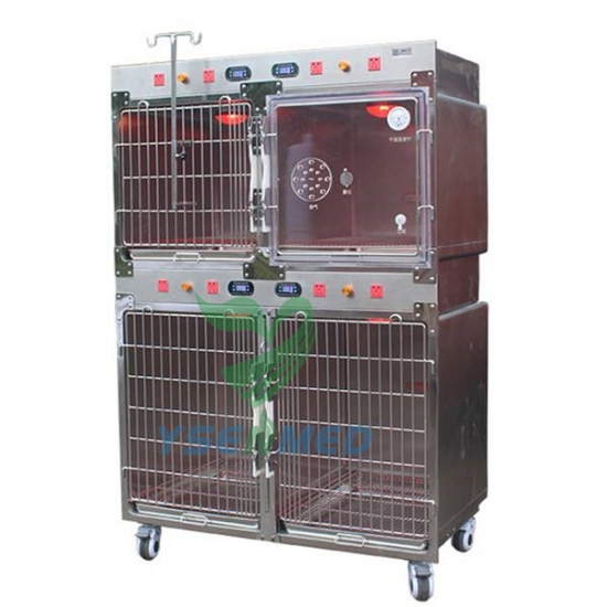 Stainless Steel Oxygen Chamber Vet Cage with Infared Lamp YSVET1220C